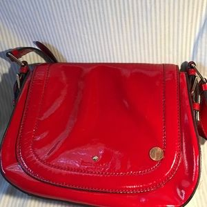Kate Spade Red Patent Leather Shoulder Bag